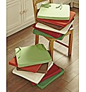 Kitchen Square Seat Pad Cotton BOGOF