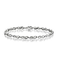 Sterling Silver Diamond-Set Bracelet