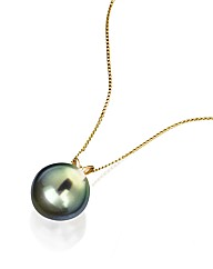 9ct Gold South Sea Peacock Pearl Pendant