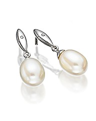 Hot Diamonds Pearl Drop Earrings