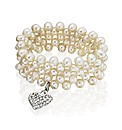 Freshwater Pearl Dangle Heart Bracelet