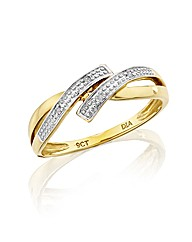 9ct Gold Diamond-Set Ring