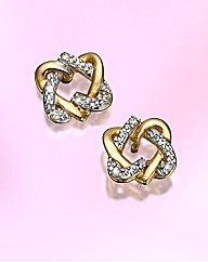 9ct Gold Diamond-Set Heart Earrings