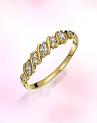 9ct Gold Half-Eternity Ring
