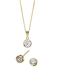 9ct Gold Cubic Zirconia Set