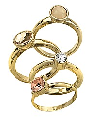 Oasis Set of 4 Rings
