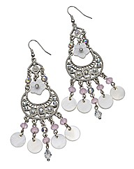 Lipsy Sparkly Chandelier Earrings