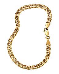 9 Carat Gold Double Link Bracelet