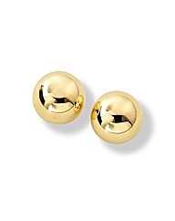 9 Carat Gold Large Ball Stud Earrings