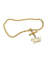 9ct Gold T-Bar Double Name Bracelet