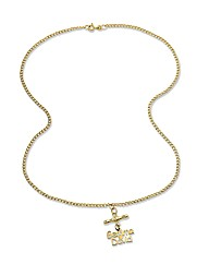 9ct Gold T-Bar Double Name Necklet