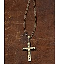 9ct Gold Crucifix Hollow Cross Pendant