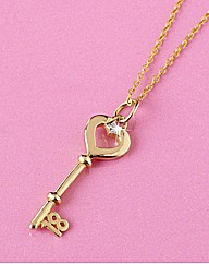 Gold-Plated Sterling Silver Key Pendant