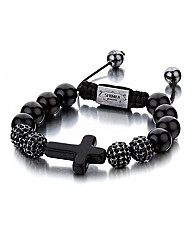 Shimla Black Onyx Cross Bracelet