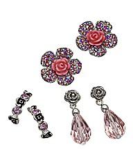 Ladies Set of 3 Earrings