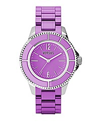 Versus Purple Rubber Strap Watch