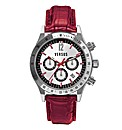 Versus Versace Red Leather Strap Watch