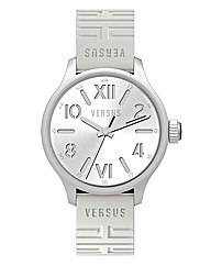 Versus Gents White Rubber Strap Watch