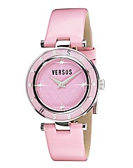 Versus Ladies Pink Leather Strap Watch