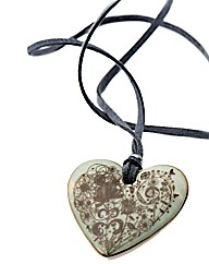 Kaolin Nature Design Heart Disc Pendant