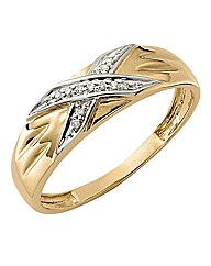 Ladies 9 Carat Gold Diamond Wedding Band