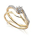Ladies 9ct Gold Wedding Ring Set