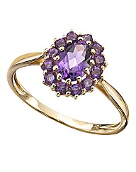 9 Carat Yellow Gold & Amethyst Ring