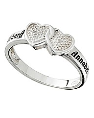 Precious Sentiments Heart Duo Ring