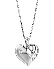 Hot Diamonds Arabesque Heart Pendant