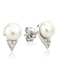 So Jewellery Silver Pearl Earrings