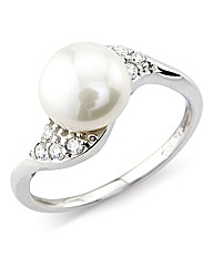 So Jewellery Sterling Silver Pearl Ring