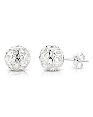 So Jewellery Silver Sphere Earrings