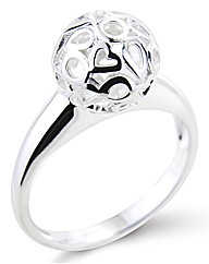 So Jewellery Sterling Silver Sphere Ring