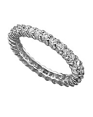 Sterling Silver & CZ Eternity Ring
