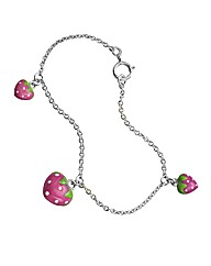 Sterling Silver Strawberry Bracelet
