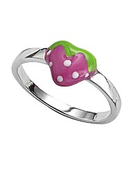 Sterling Silver Strawberry Ring