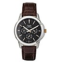 Pulsar Gents Brown Leather Strap Watch