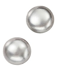 Sterling Silver Grey Pearl Stud Earrings