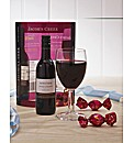 Jacobs Creeks Red, Glass & Chocolate