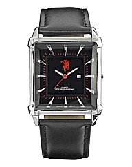 Gents Leather Strap Football Watch
