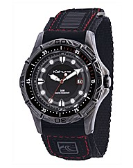 Kahuna Gents Black Rip Strap Watch