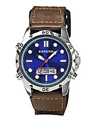 Kahuna Gents Brown Rip Strap Watch