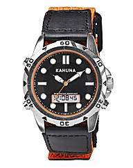Kahuna Gents Orange Rip Strap Watch