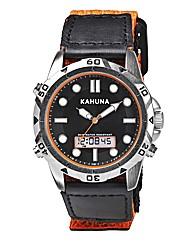 Kahuna Gents Orange Rip Strap Watch