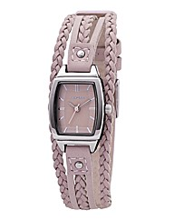 Kahuna Ladies Pink Multi Thong Watch