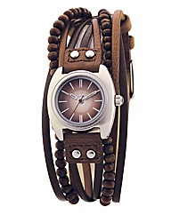 Kahuna Ladies Brown Multi Thong Watch