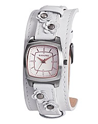 Kahuna Ladies White Leather Watch