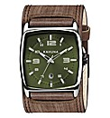 Kahuna Gents Brown Cuff Strap Watch