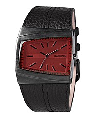 Kahuna Gents Black Strap Watch