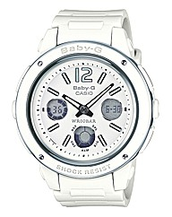 Baby G White Strap Watch